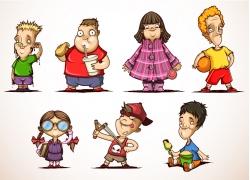 外国儿童卡通漫画图片