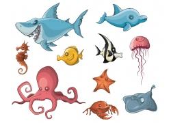 海洋动物卡通漫画图片