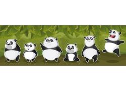 卡通熊猫漫画图片