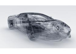 跑车透视3D效果图