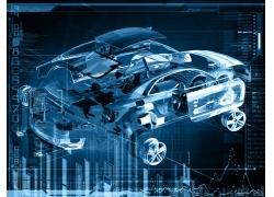 汽车结构图梦幻背景