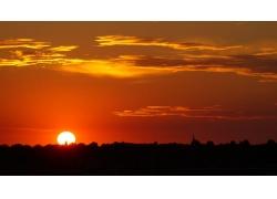 美丽的夕阳