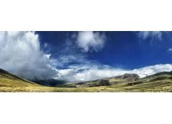 高原蓝天风景