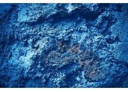 蓝色墙壁污渍背景
