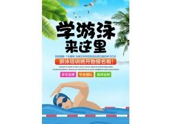 游泳培训班招生海报
