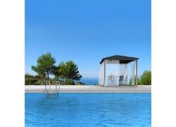 海边的游泳池图片