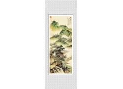 中国山水画玄关