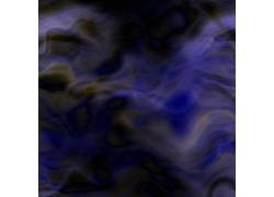 蓝色曲线水彩背景图片
