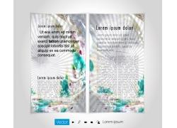 炫彩放射折页设计图片