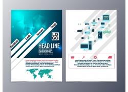 梦幻立体三角形宣传单设计图片