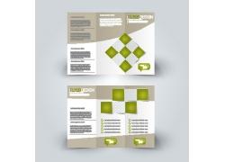 绿色方块折页设计图片
