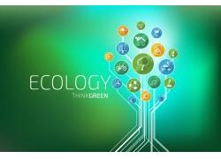生态环保扁平化图标