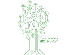 生态环保卡通树
