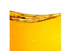 金黄色的油料特写
