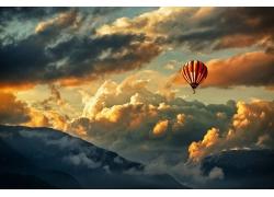 天空上的热气球