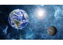 星空光斑地球