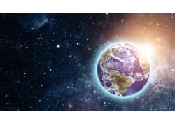 星星光芒地球