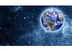 蓝天星星地球