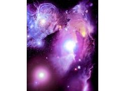 紫色梦幻星空