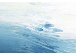 蓝色笔触水彩背景