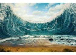 蓝天下的海洋