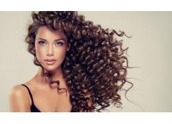 欧美女性美发模特