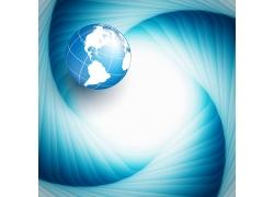 蓝色曲线地球背景图片