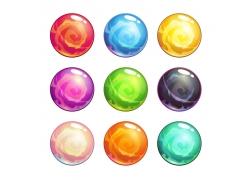 彩色水晶星球