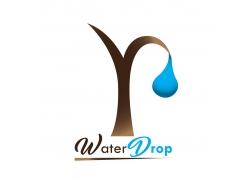 枯树与水滴公益海报设计