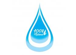蓝色水滴海报设计