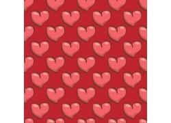 红色卡通爱心矢量背景图片