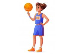 花式篮球女运动员