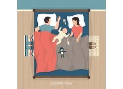 睡觉的卡通人物设计图片
