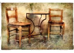 椅子特写美术作品
