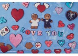 情人节饼干和心形图片