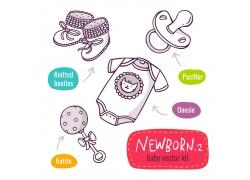 婴儿用品卡通图标