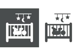 婴儿床卡通背景