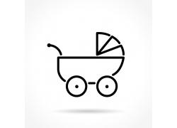 卡通婴儿车背景