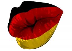 德国国旗嘴唇