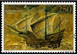 黄色帆船邮票