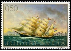 浪花帆船邮票