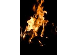 明亮的火焰特写