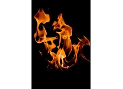燃烧产生的火苗