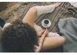 美女与咖啡