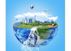 绿色环保广告背景