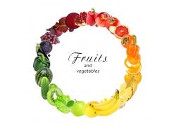 水果蔬菜时间钟表