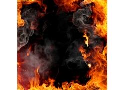 火焰烟雾背景