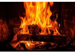壁炉里的火焰