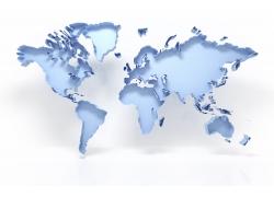 浅蓝色的地图摄影