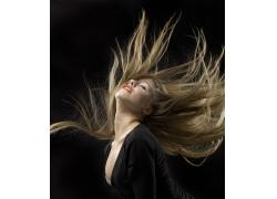 动感飘逸的美发模特